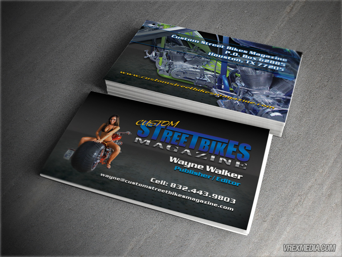 Business card custom street bikes magazine business card designcustom street bikes magazine colourmoves