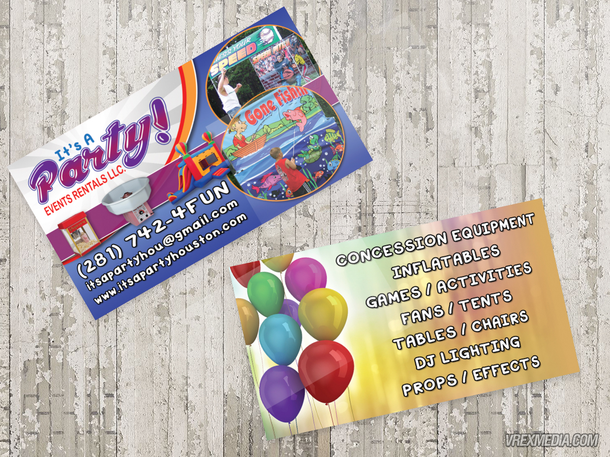 Business Card It S A Party Event Als