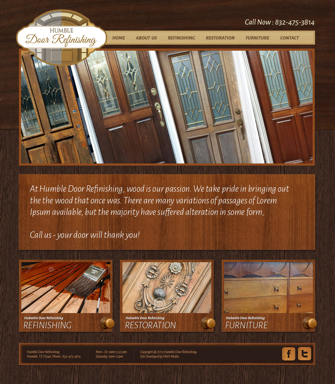 Humble Door Refinishing