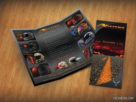 Brochure Design - Akuma Helmets
