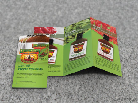 Brochure Design - Hot Line Pepper Products