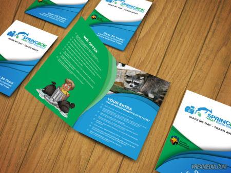 Brochure Design - Springbok Valet Trash