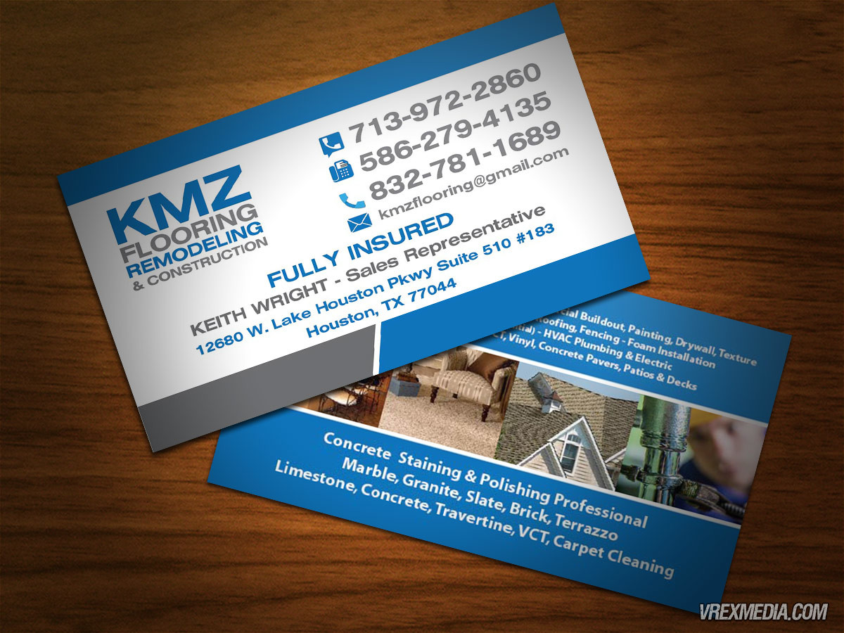 Business Cards Design - KMZ Flooring