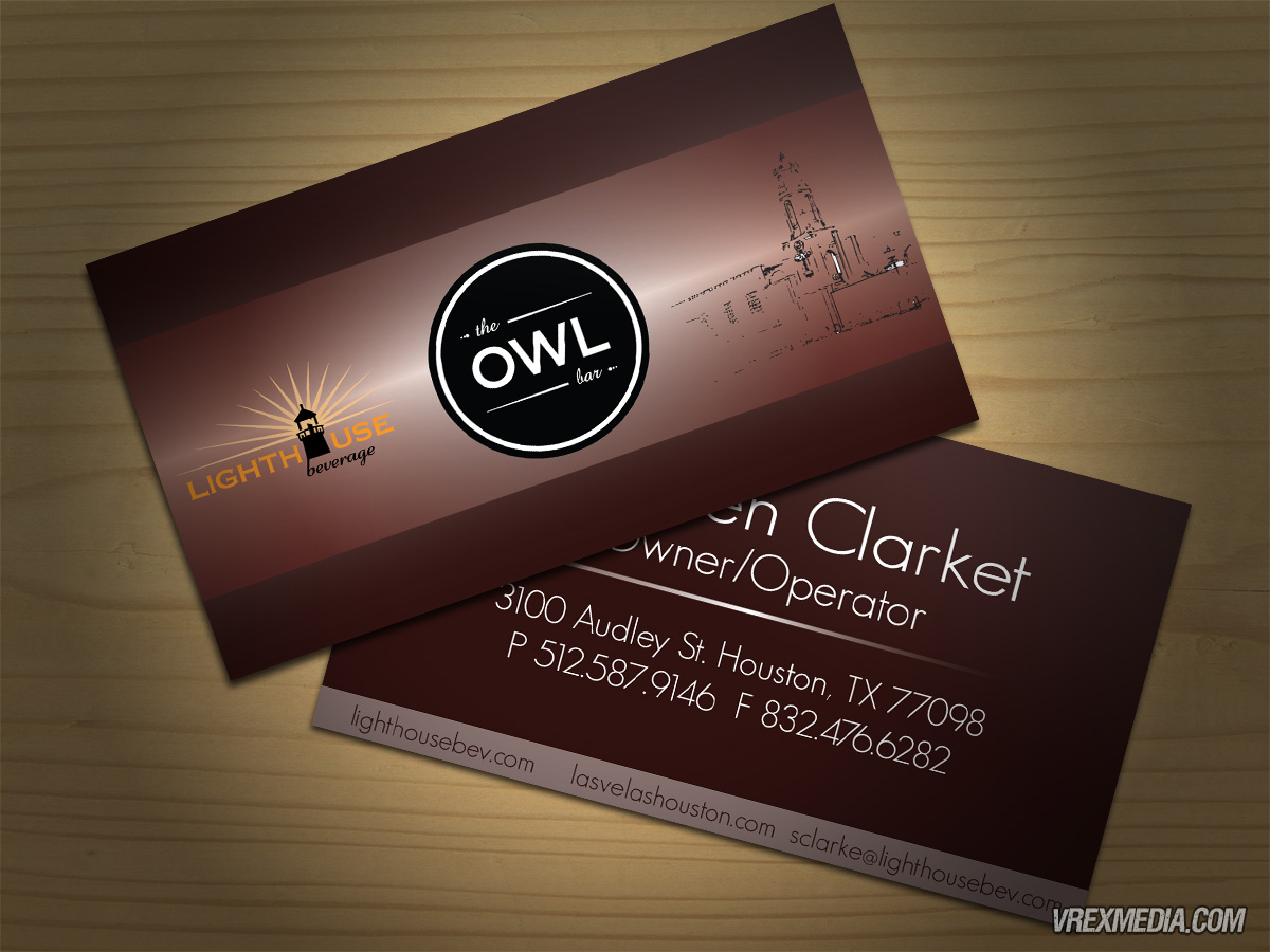 Business Card Design - Lighthouse Beverages