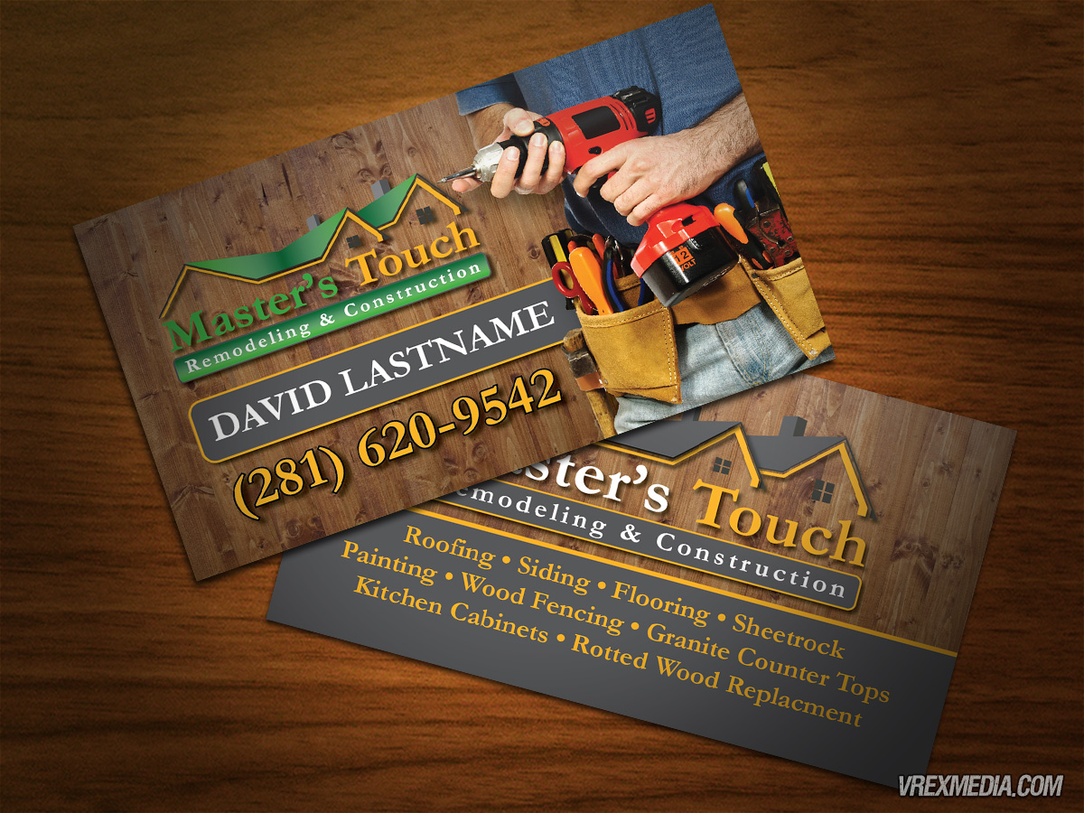 Business Card - Master\'s Touch Construction