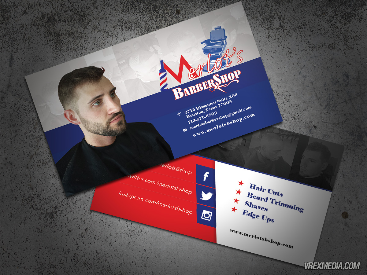 Business Card - Merlot\'s Barbershop