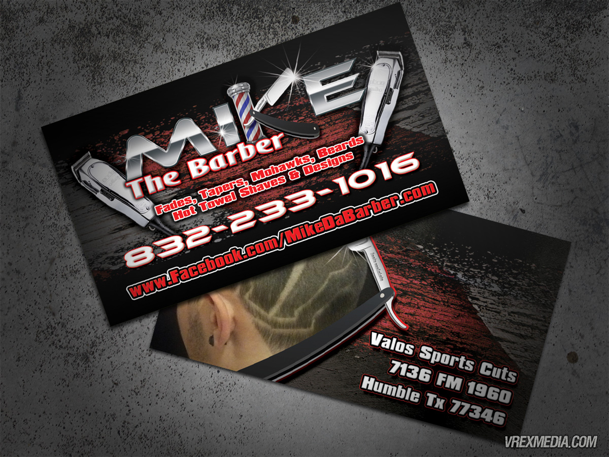 barber business cards - Fieldstation.co