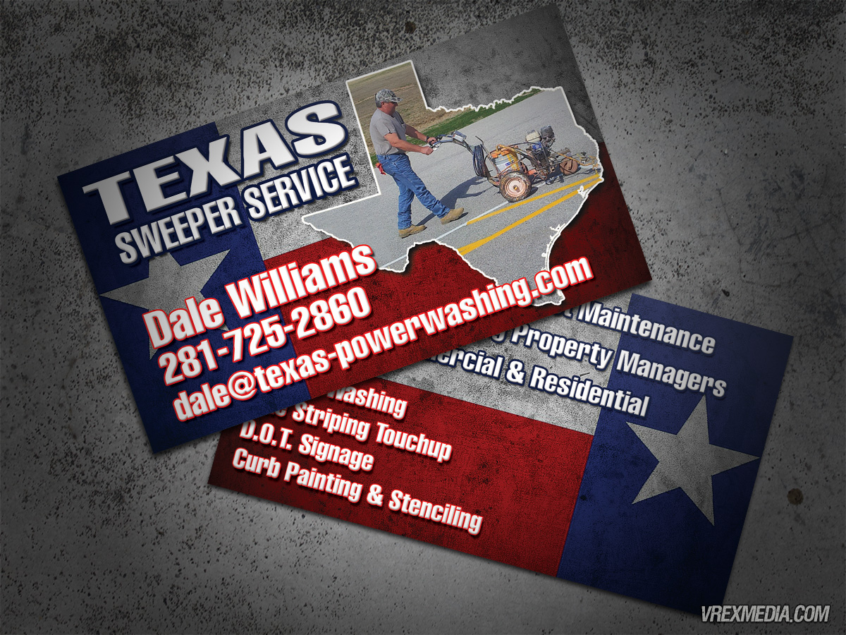 Business card texas sweeper service business card designtexas sweeper service colourmoves Choice Image