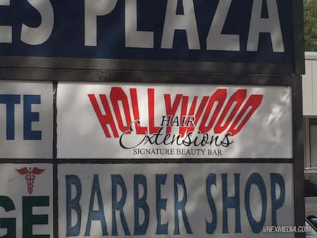 Cabinet Sign - Hollywood Hair