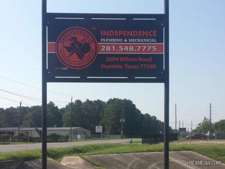 Exterior Sign - Independence Plumbing & Mechanical