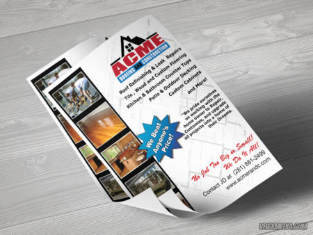 Acme Roofing & Construction Flyer