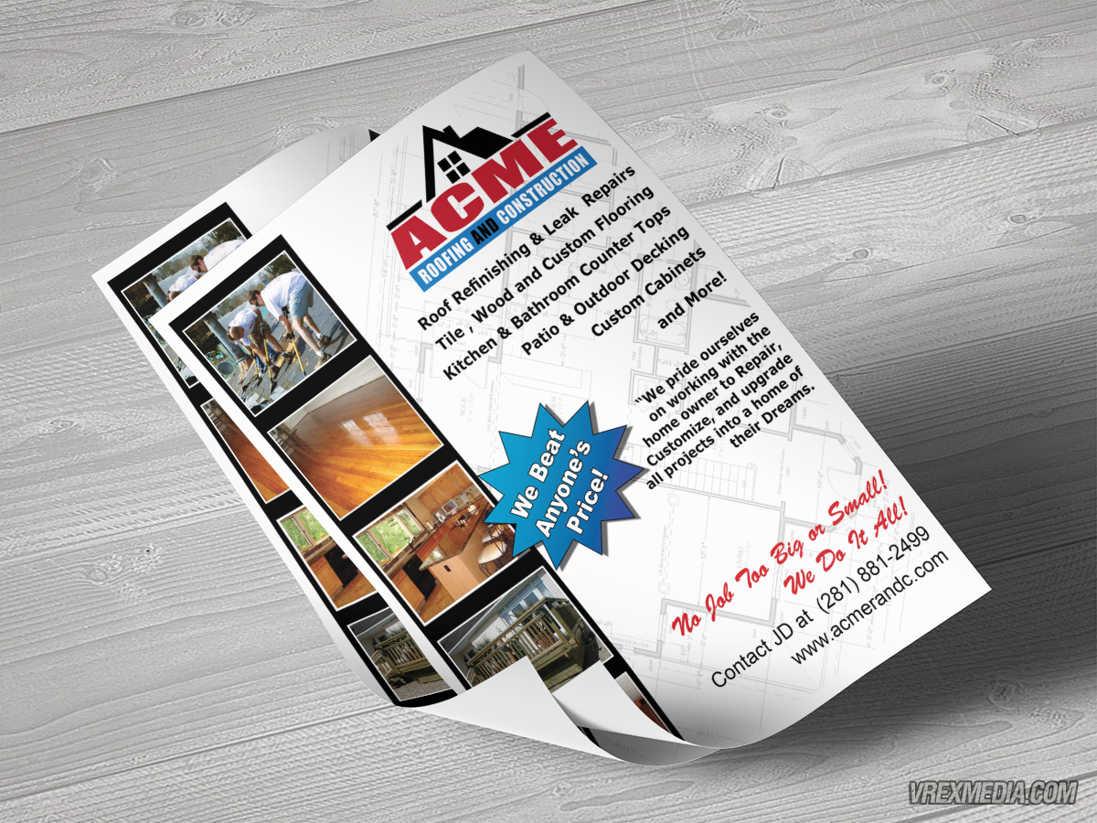 & Acme Roofing u0026 Construction Flyer memphite.com