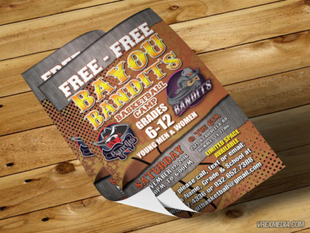 Flyer Design - Bayou Bandits 2