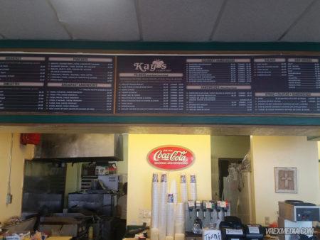 Menu Board - Kay's Sandwich Shop