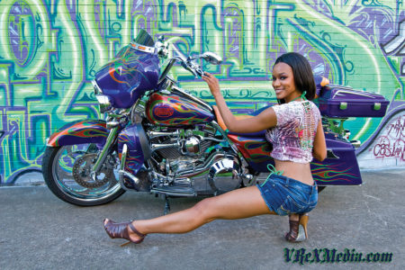 Brittany with HD Road King 2