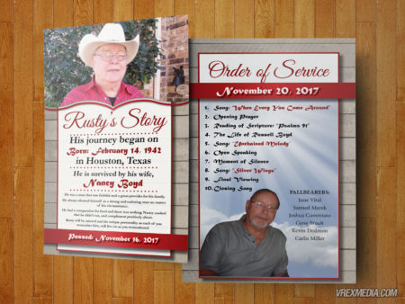 Memorial Program - Rusty Boyd