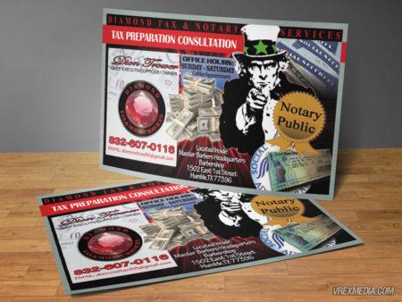 Postcard Design - Diamond Tax Service