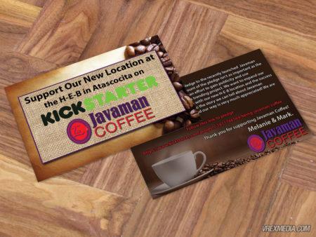 Postcard Design - Javaman Coffee