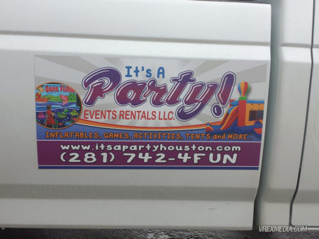 Vehicle Magnet - It's A Party Event Rentals