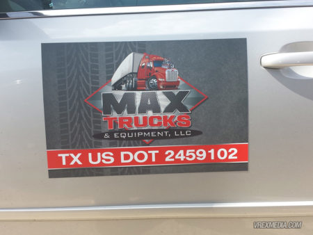 Vehicle Magnet - Max Trucks & Equipment