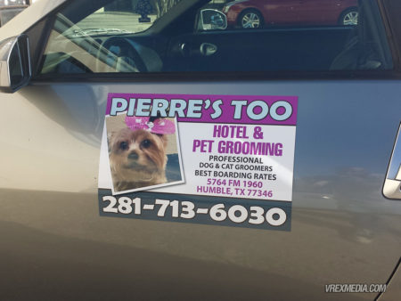 Vehicle Magnet - Pierre's Too Pet Grooming