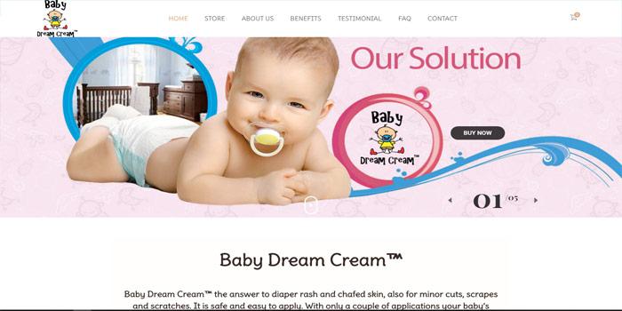 Baby Dream Cream Website