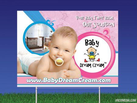 Baby Dream Cream Yard Sign