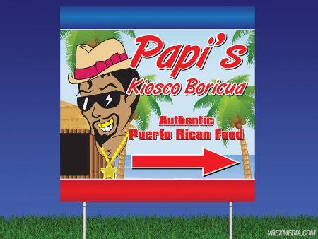 Papi's Kiosco Yard Sign