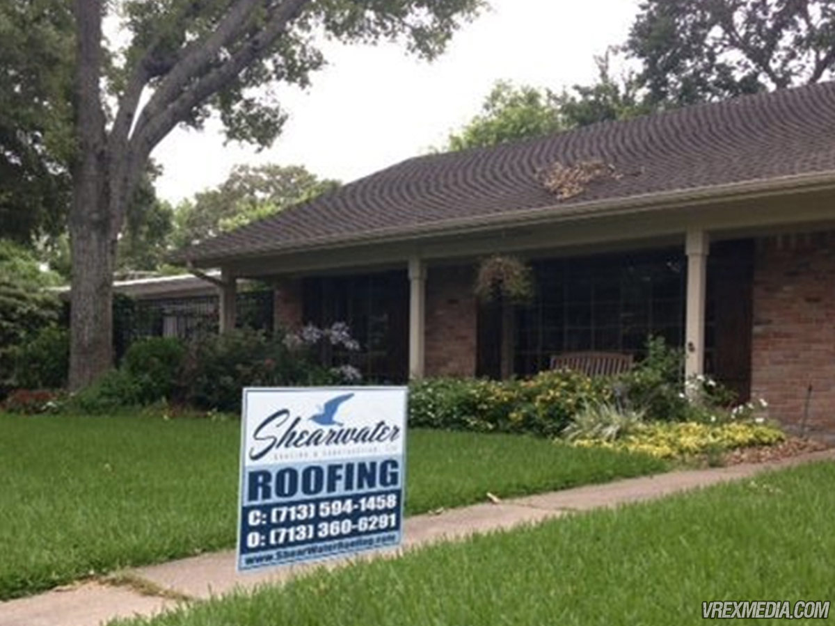 Yard Sign Shearwater Roofing