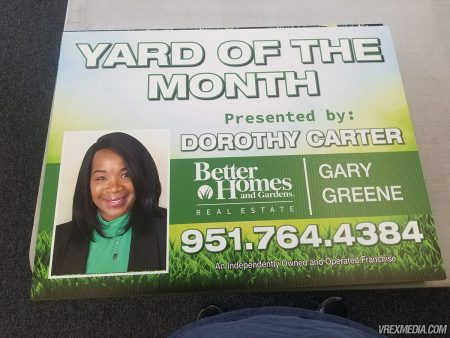 Yard of the Month Yard Sign