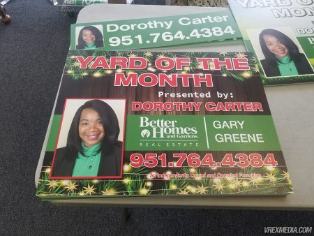 Winter Yard of the Month Yard Sign