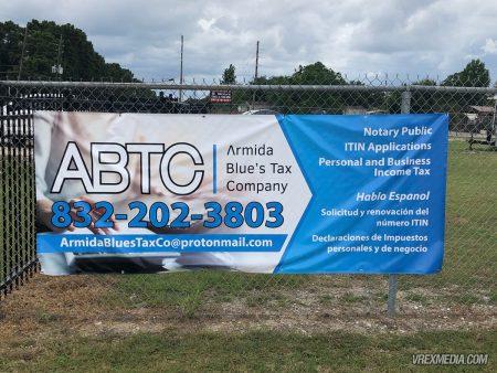 Armida Blue's Tax Company Banner
