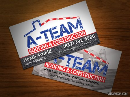 A-Team Roofing Business Cards