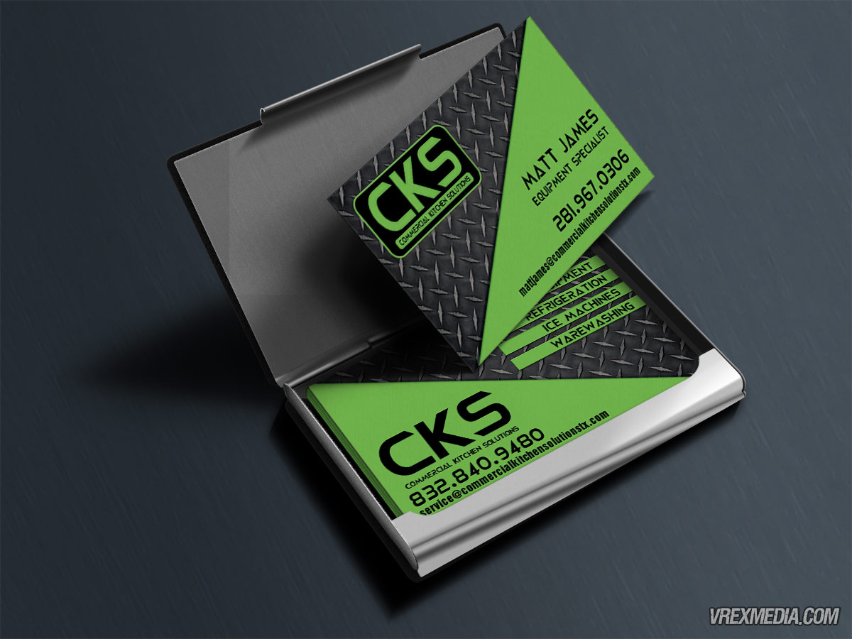 Business Card Design Commercial Kitchen Solutions