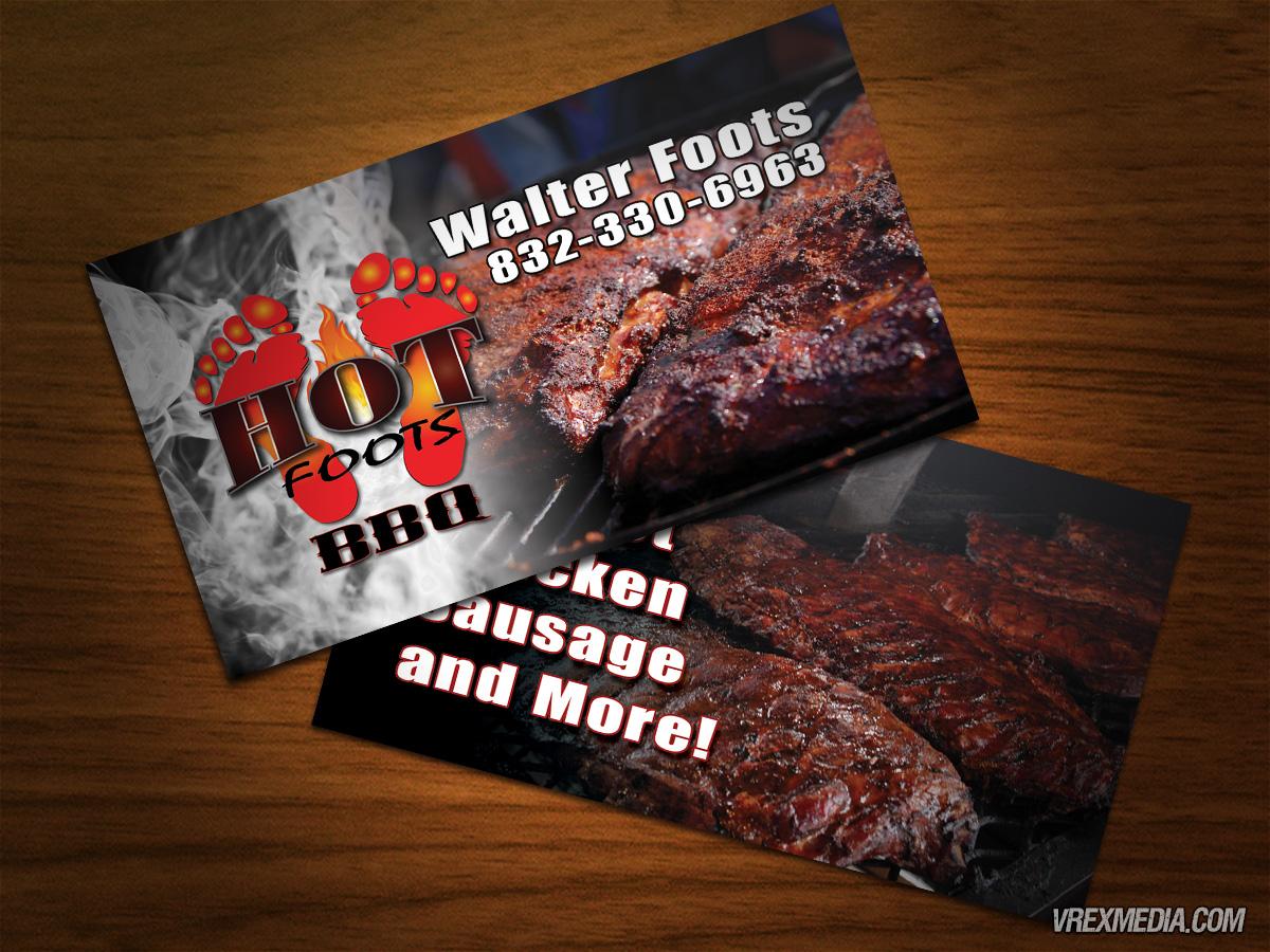 Business Card Hot Foots Bbq