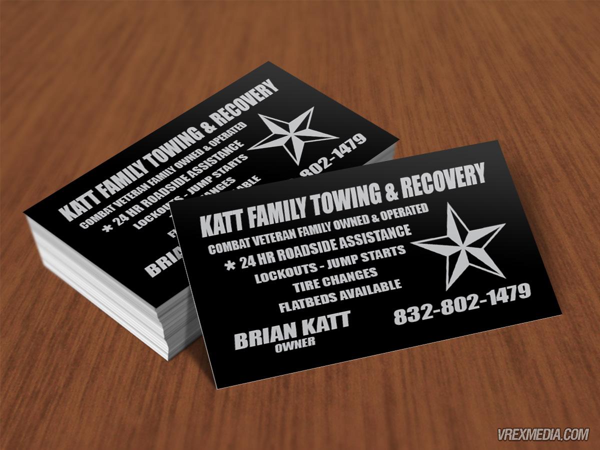 Business card design katt family towing business card design katt family towing colourmoves