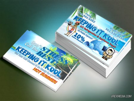Keeping It Cool Business Card Design