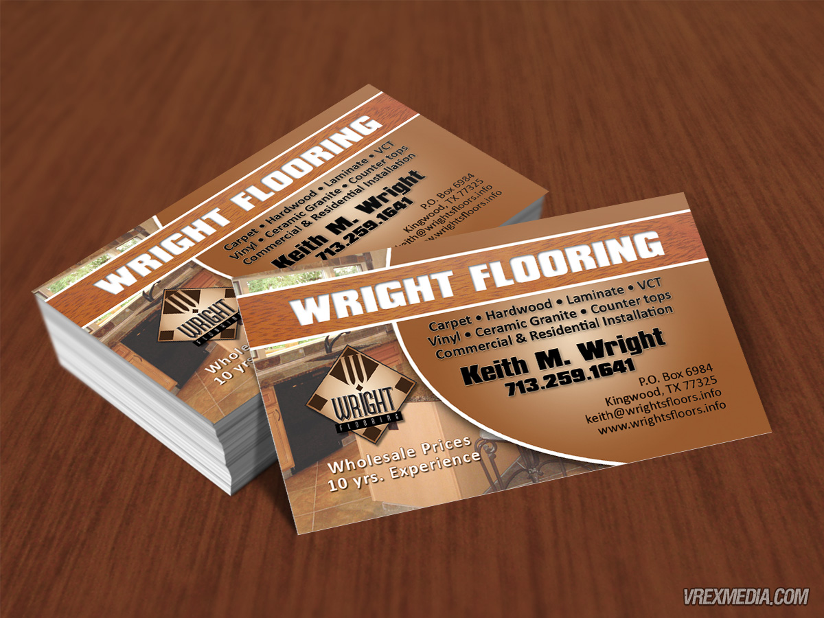 Business Card Wright Flooring