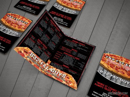 Menu Design - Two Fat Guys Pizza