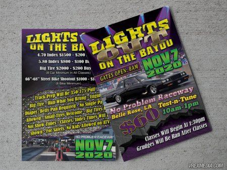 Lights Out Racing Postcard
