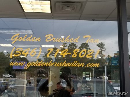 Storefront Decals - Golden Brushed Tan